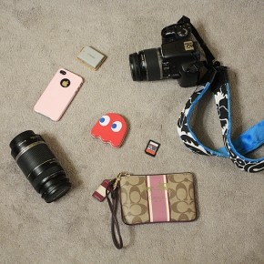 What I normally carry in my bag, the basics. I will throw in another lens or two if needed